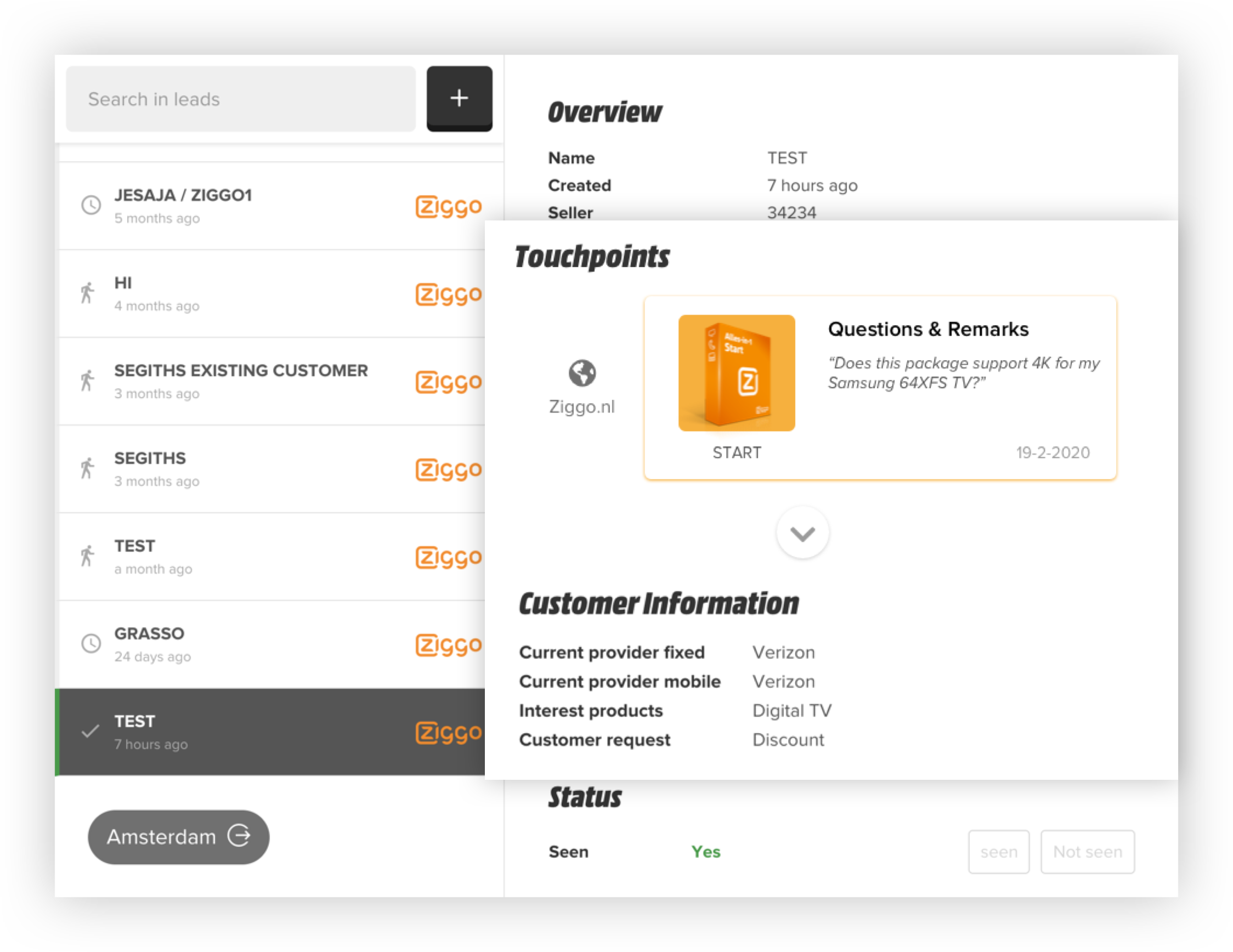 See appointments and the customer's preferences
